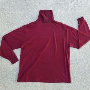 REI Men's VTG 90s Retro Burgundy Turtleneck Shirt